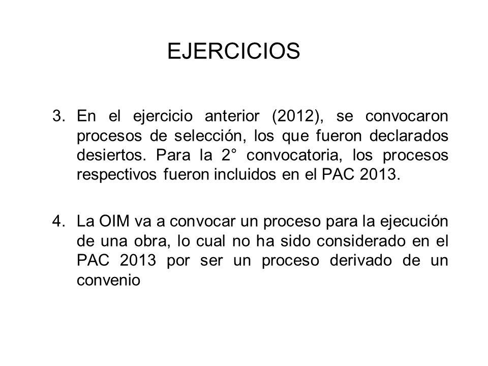 Durante la Aprobación del Plan Anual de la Entidad X, se pudo apreciar las siguientes situaciones: 1.El PIA de la Entidad fue aprobado el 30-12- 2012