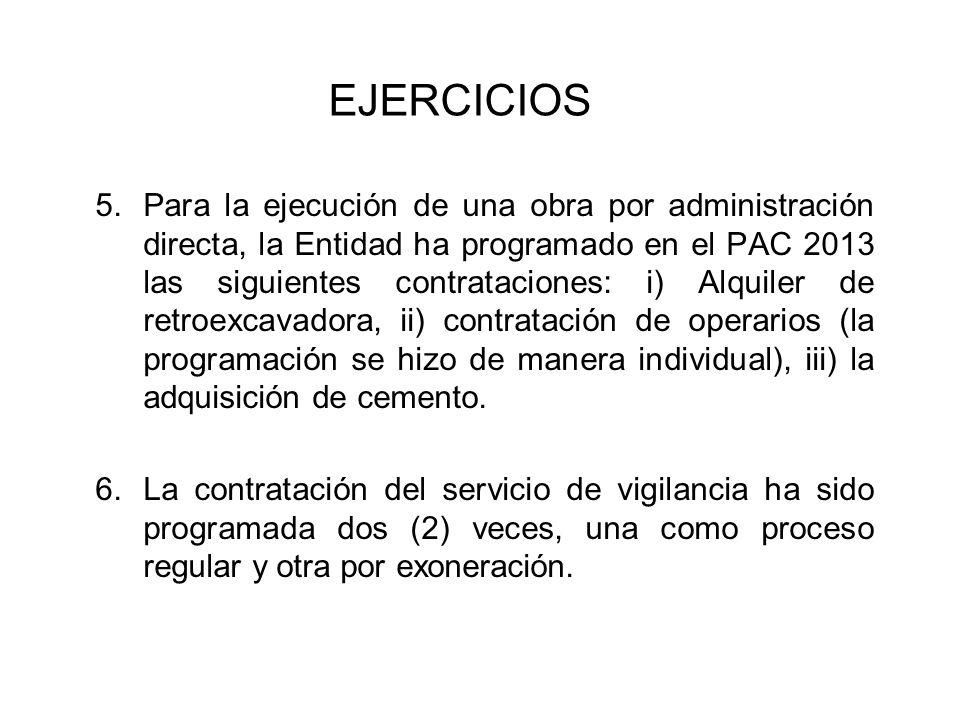 3.En el ejercicio anterior (2012), se convocaron procesos de selección, los que fueron declarados desiertos.