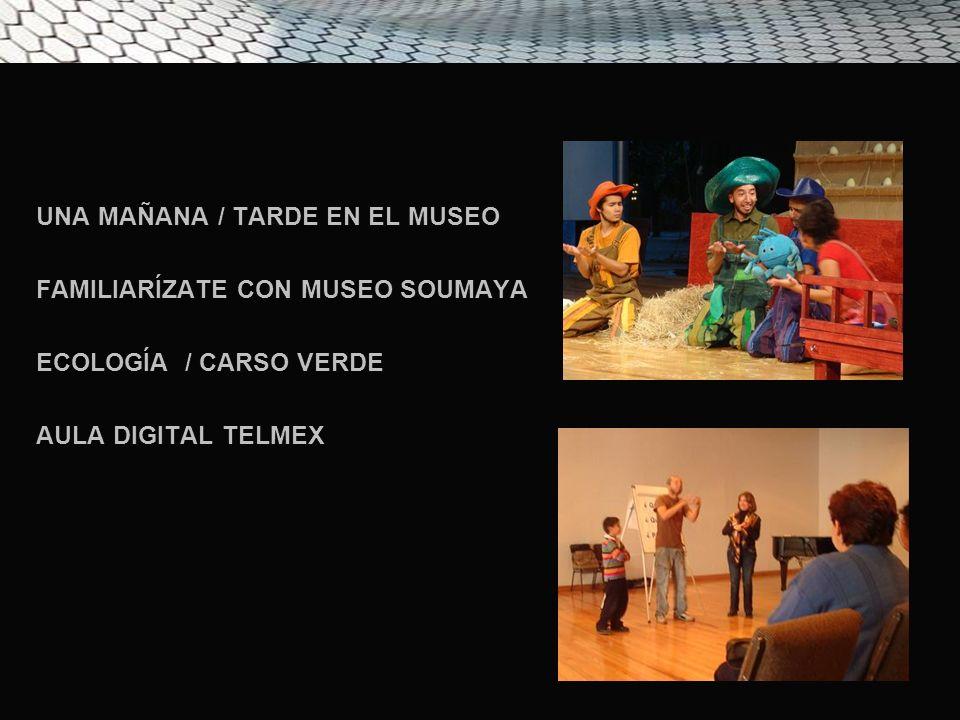 UNA MAÑANA / TARDE EN EL MUSEO FAMILIARÍZATE CON MUSEO SOUMAYA ECOLOGÍA / CARSO VERDE AULA DIGITAL TELMEX