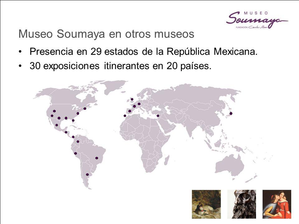 Museo Soumaya en otros museos Presencia en 29 estados de la República Mexicana.