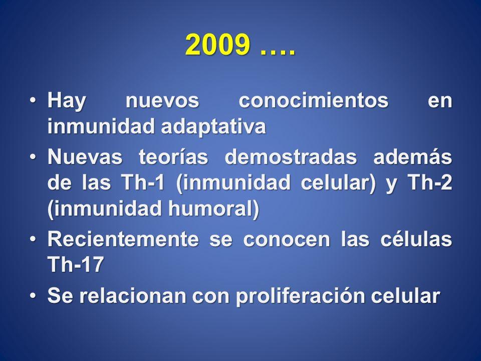 Hay nuevos conocimientos en inmunidad adaptativaHay nuevos conocimientos en inmunidad adaptativa Nuevas teorías demostradas además de las Th-1 (inmuni