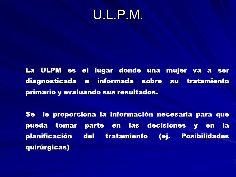 UP (Comité – Control de Calidad-Autocritica) El CP es el encargado de velar por la calidad de la asistencia diaria y a diferentes niveles.