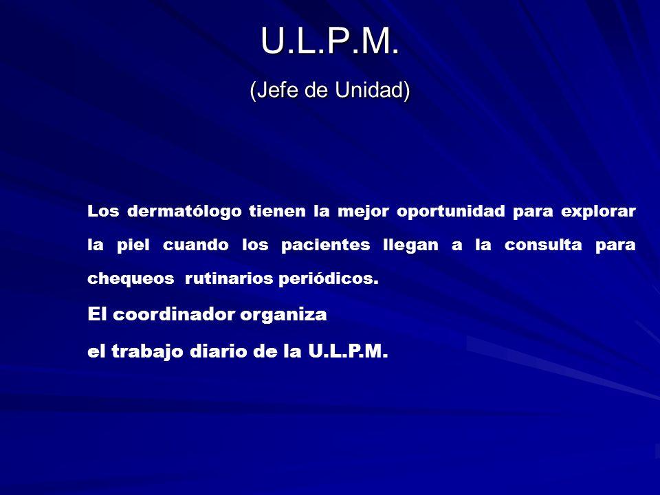 U.L.P.M.(Comité) Está compuesto por todos y cada uno de los miembros de la U.L.P.M.
