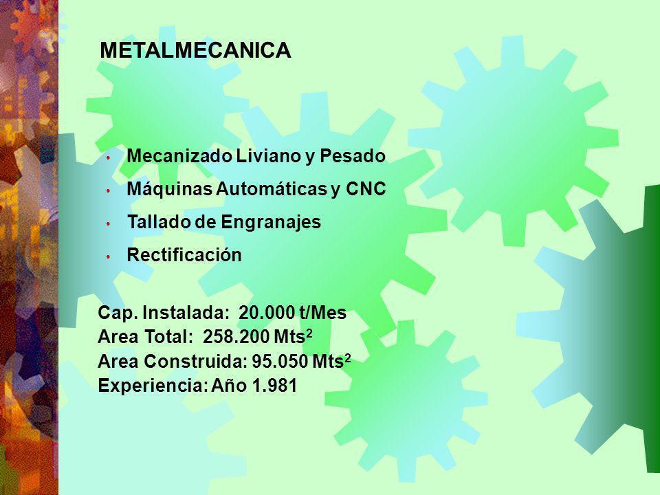 Aluminio Acero Fundición Gris Fundición Nodular Bronce Latón Ferroaleaciones Cap.