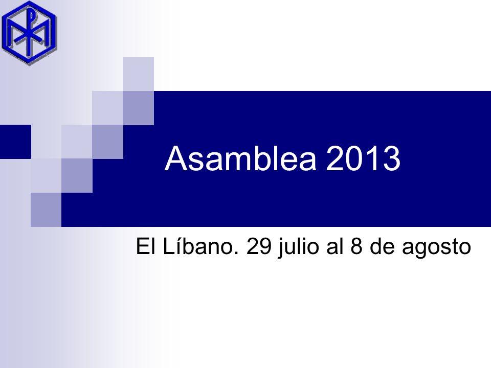 Asamblea 2013 El Líbano. 29 julio al 8 de agosto