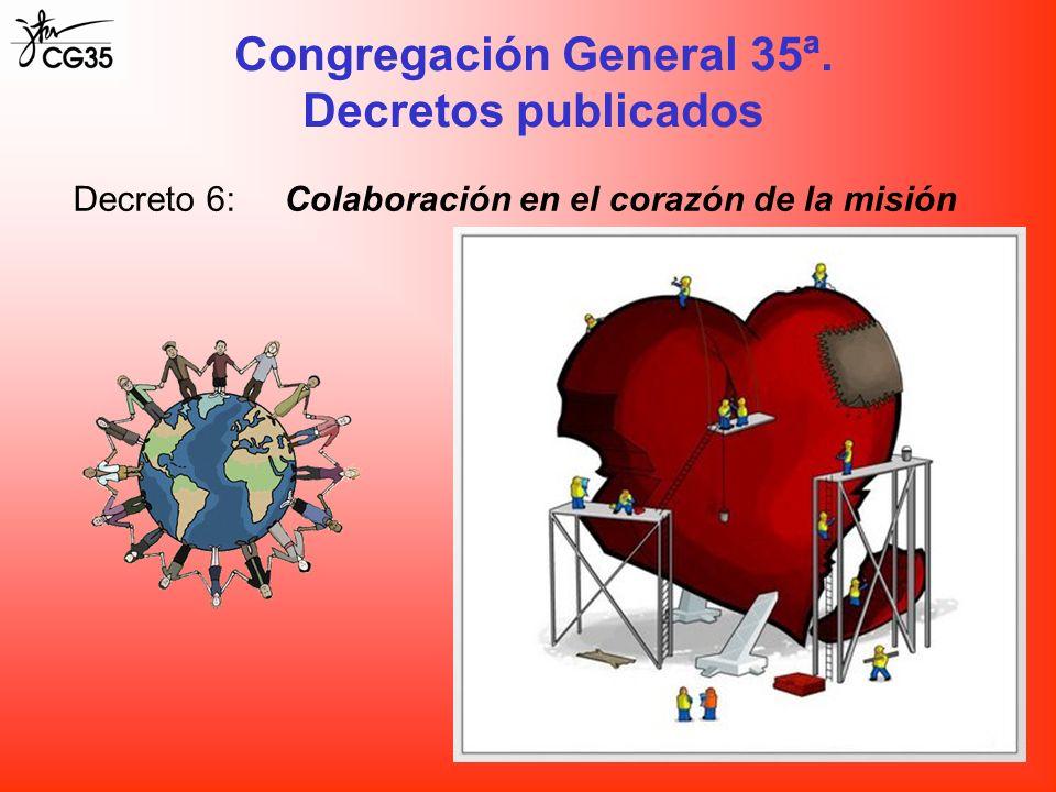 Decreto 6:Colaboración en el corazón de la misión Congregación General 35ª. Decretos publicados
