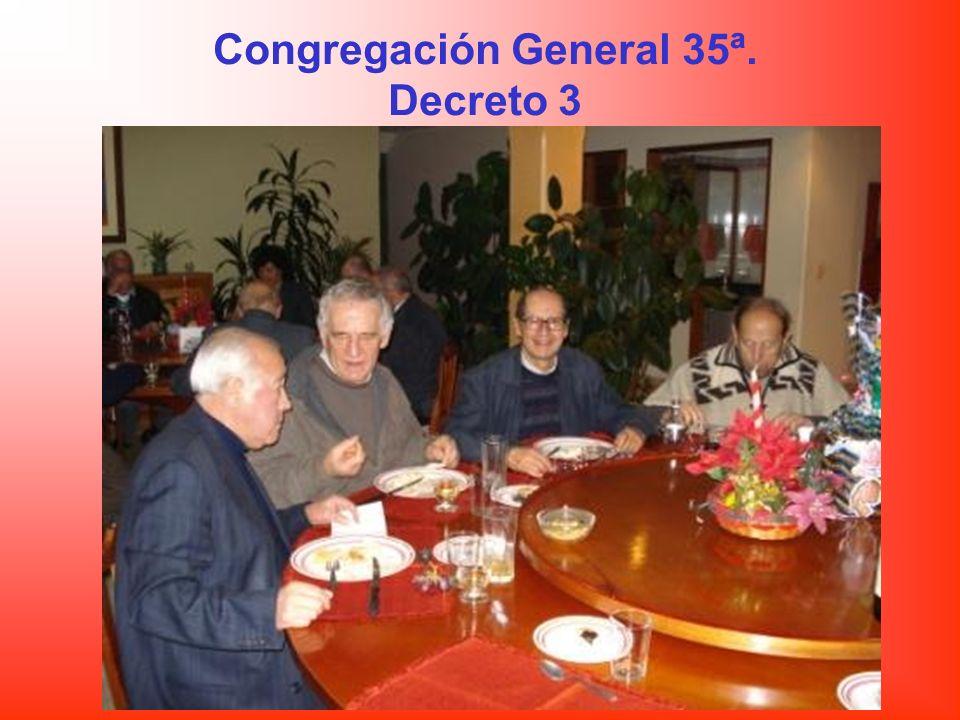 Congregación General 35ª. Decreto 3