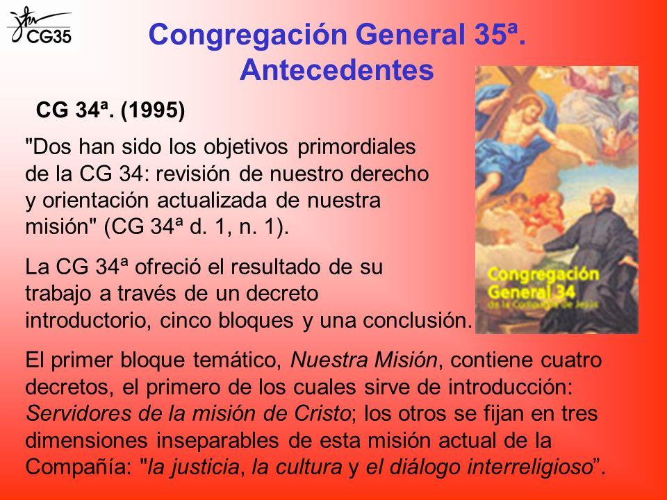 Congregación General 35ª. Antecedentes CG 34ª. (1995)