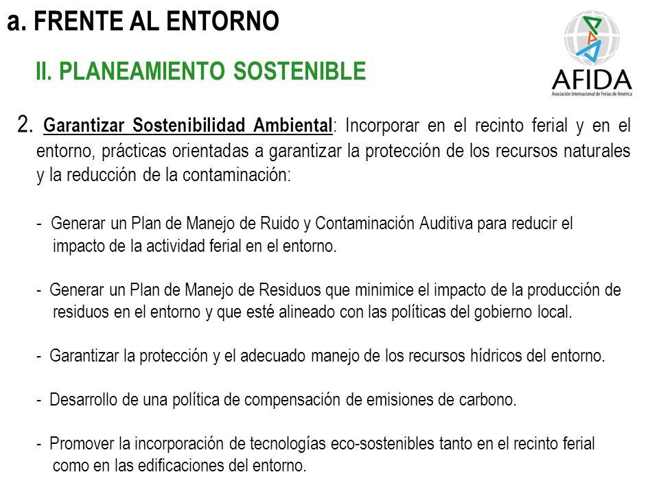 a. FRENTE AL ENTORNO II. PLANEAMIENTO SOSTENIBLE 2.