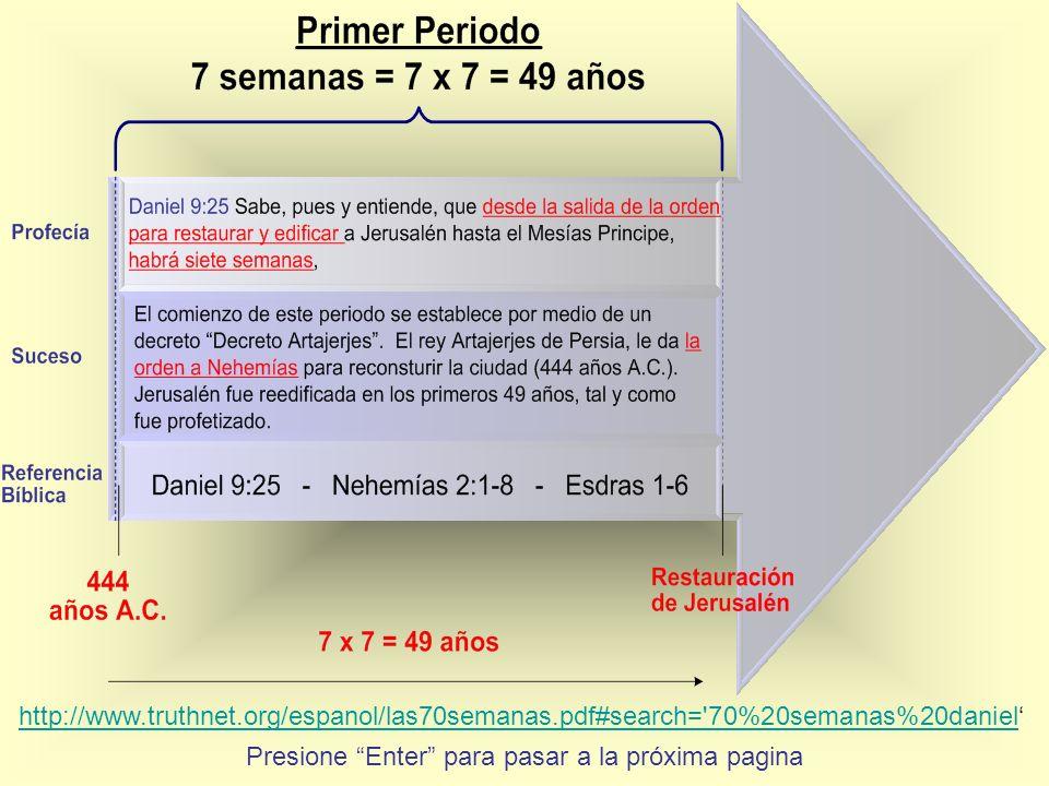 Presione Enter para pasar a la próxima pagina http://www.truthnet.org/espanol/las70semanas.pdf#search='70%20semanas%20daniel