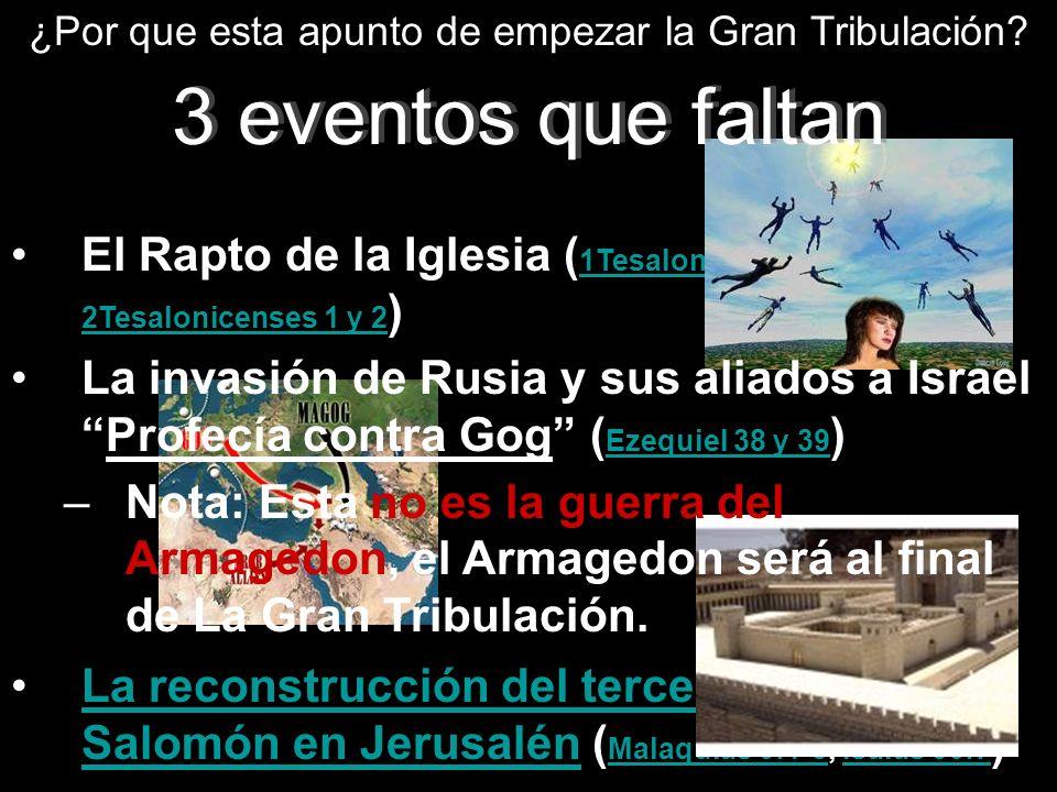 La reconstrucción del tercer Templo de Salomón en Jerusalén ( Malaquias 3:1-5, Isaías 56:7 )La reconstrucción del tercer Templo de Salomón en Jerusalé