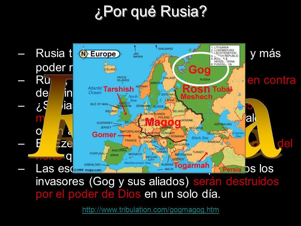 –Rusia tiene el mayor interés por petróleo y más poder mundial –Rusia, fue uno de los países que estuvo en contra de la invasión a Irak. –¿Sabias que