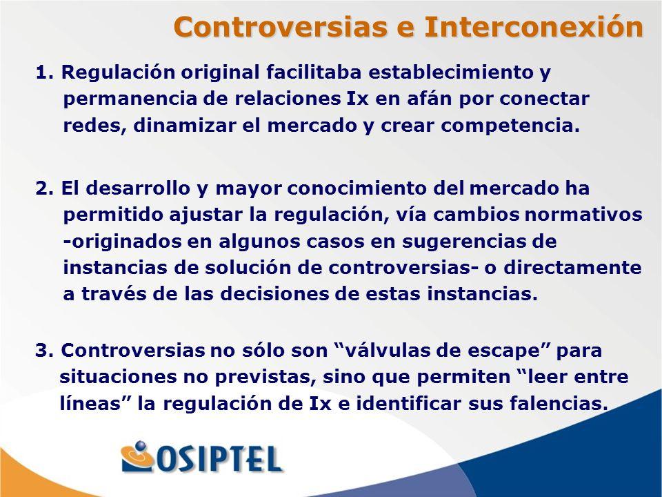 Controversias e Interconexión 1.
