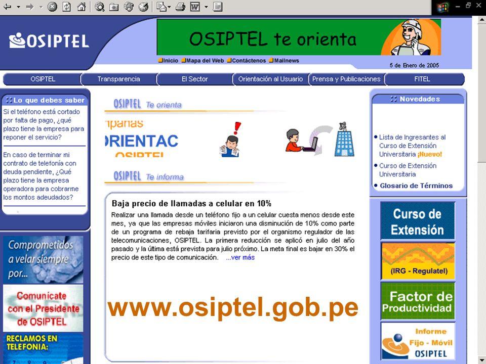 www.osiptel.gob.pe