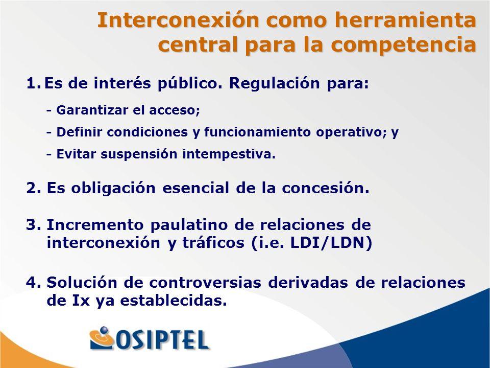 Interconexión como herramienta central para la competencia 2.
