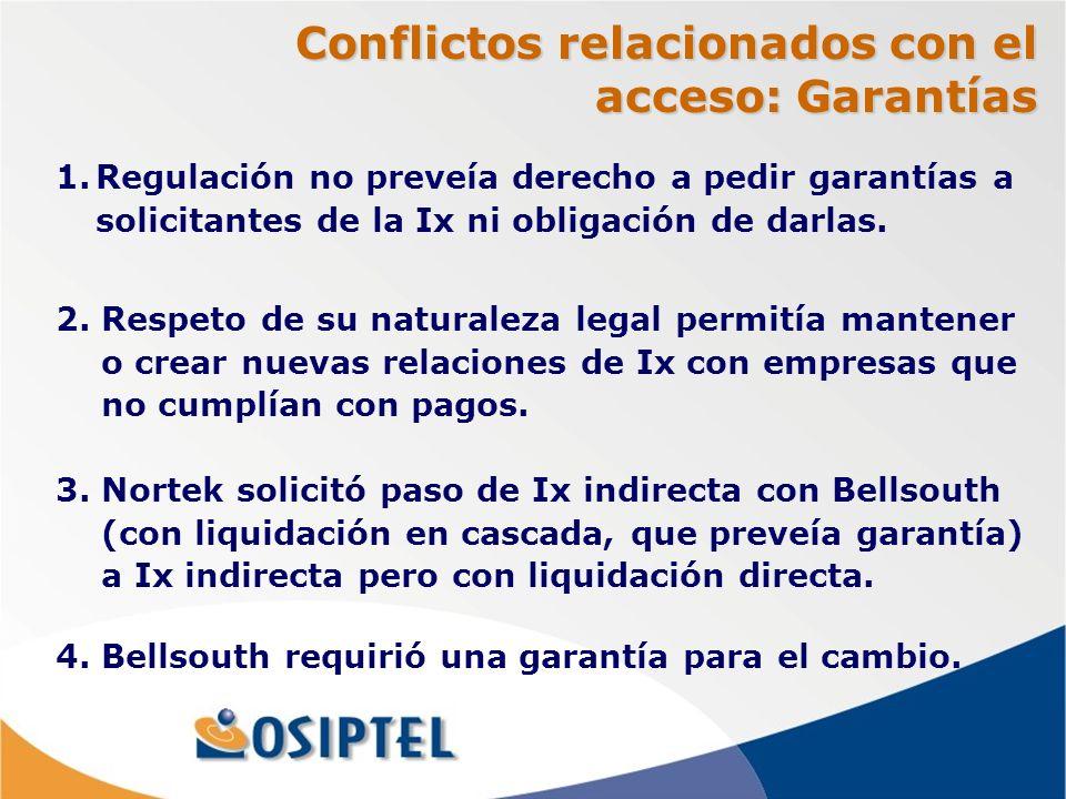 Conflictos relacionados con el acceso: Garantías 2.