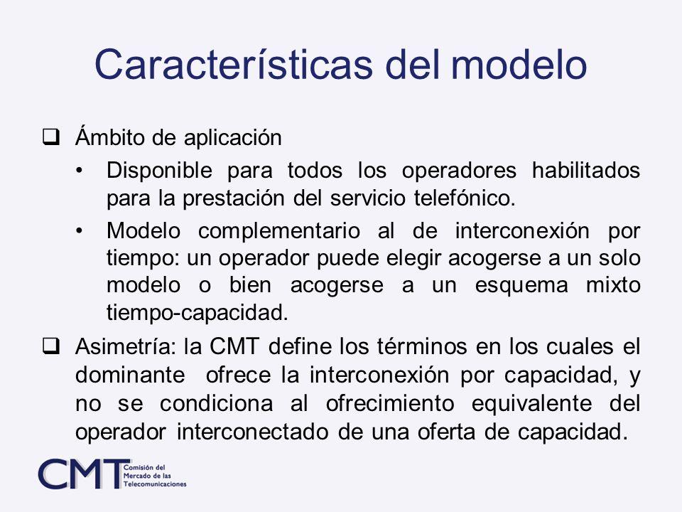 Características del modelo Ámbito de aplicación Disponible para todos los operadores habilitados para la prestación del servicio telefónico. Modelo co