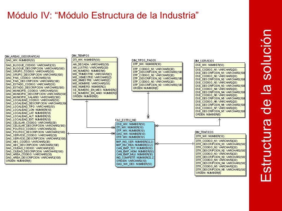 Módulo IV: Módulo Estructura de la Industria Estructura de la solución