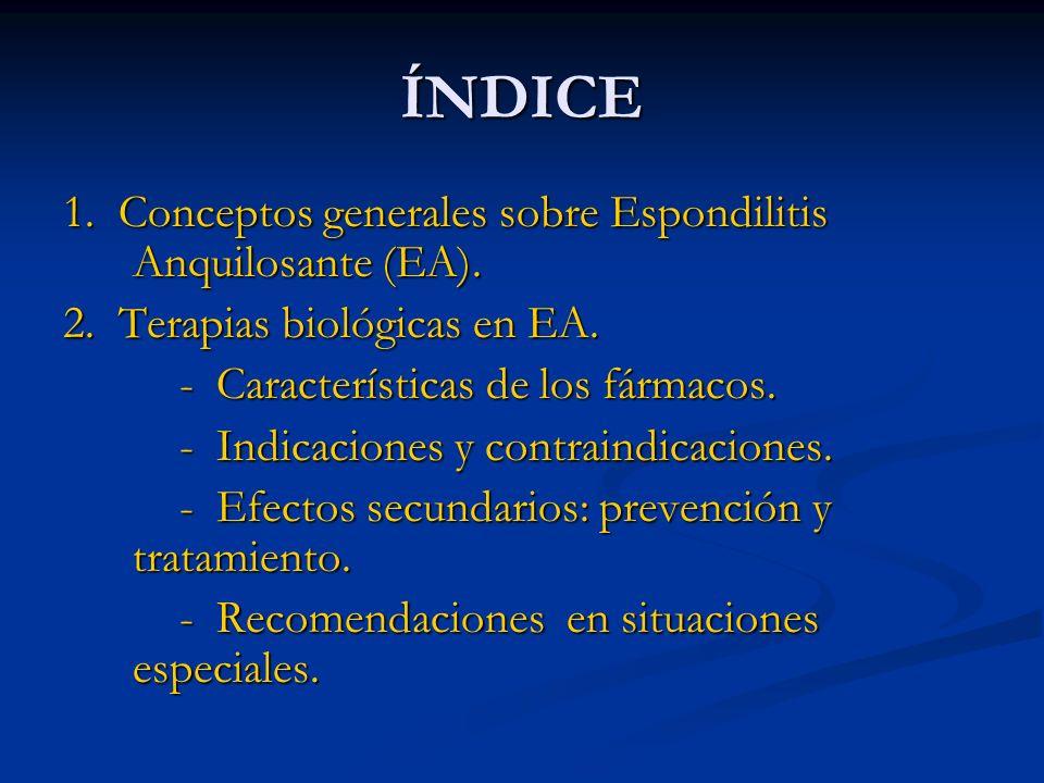 TRATAMIENTO ESPONDILOARTROPATÍA ESPONDILOARTROPATÍA AFECTACIÓN AXIAL AFECTACIÓN PERIFÉRICA AFECTACIÓN AXIAL AFECTACIÓN PERIFÉRICA AINEs (3 meses) AINEs (3 meses) AINEs (3 meses) AINEs (3 meses) SULFASALAZINA y/o SULFASALAZINA y/o METOTREXATO METOTREXATO (y/o HIDROXICLOROQUINA) (y/o HIDROXICLOROQUINA) (3-4 meses) (3-4 meses) Anti-TNF Anti-TNF ¿ ?