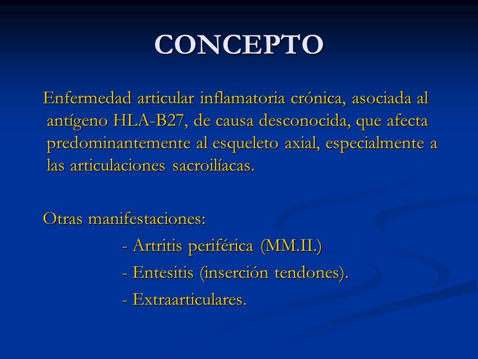 INTRODUCCIÓN Espondiloartropatías seronegativas: - Espondilitis Anquilosante (EA).