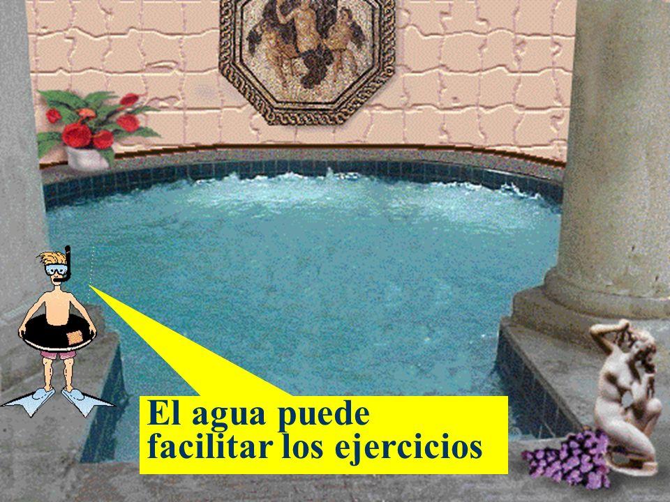 El agua puede facilitar los ejercicios