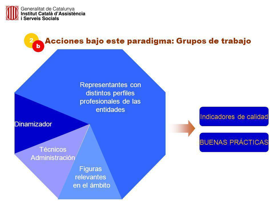 Dinamizador Técnicos Administración Figuras relevantes en el ámbito Representantes con distintos perfiles profesionales de las entidades Acciones bajo