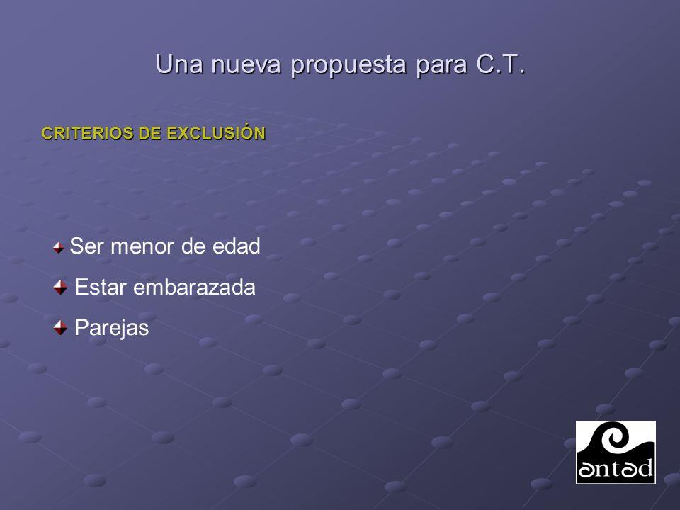 Una nueva propuesta para C.T.TRABAJO PREVIO AL INGRESO EN C.T.