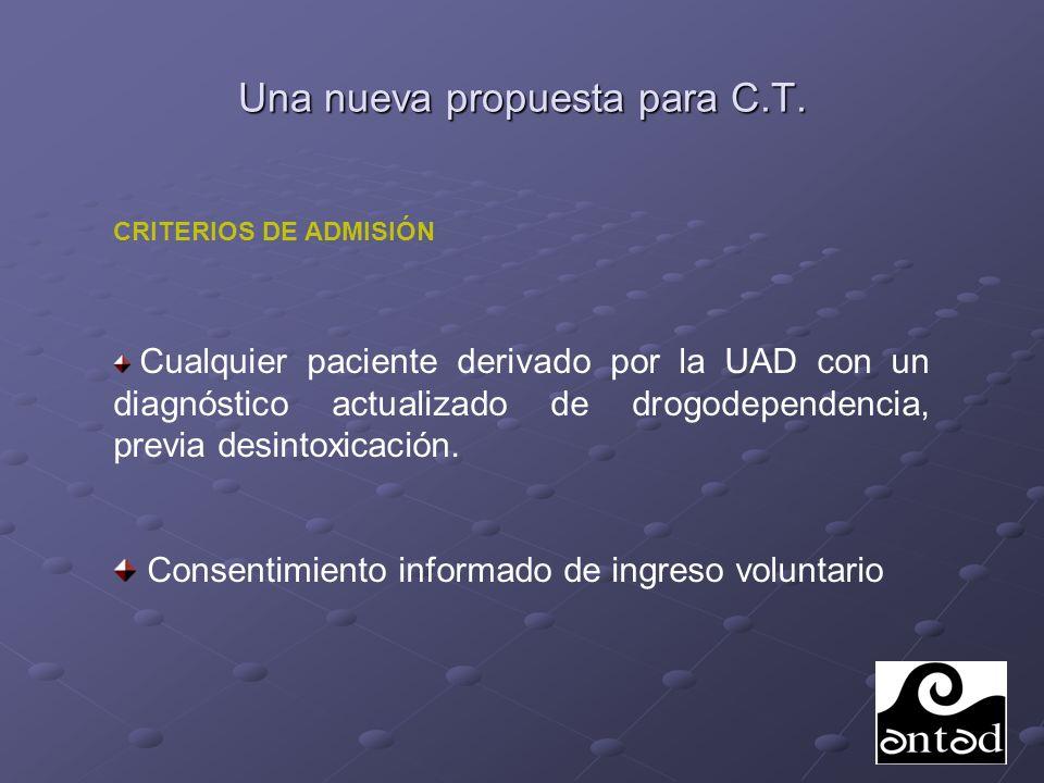 Una nueva propuesta para C.T.Pacientes en Programa de Mantenimiento con Metadona.