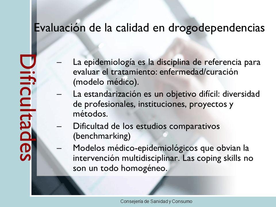 –La epidemiología es la disciplina de referencia para evaluar el tratamiento: enfermedad/curación (modelo médico). –La estandarización es un objetivo