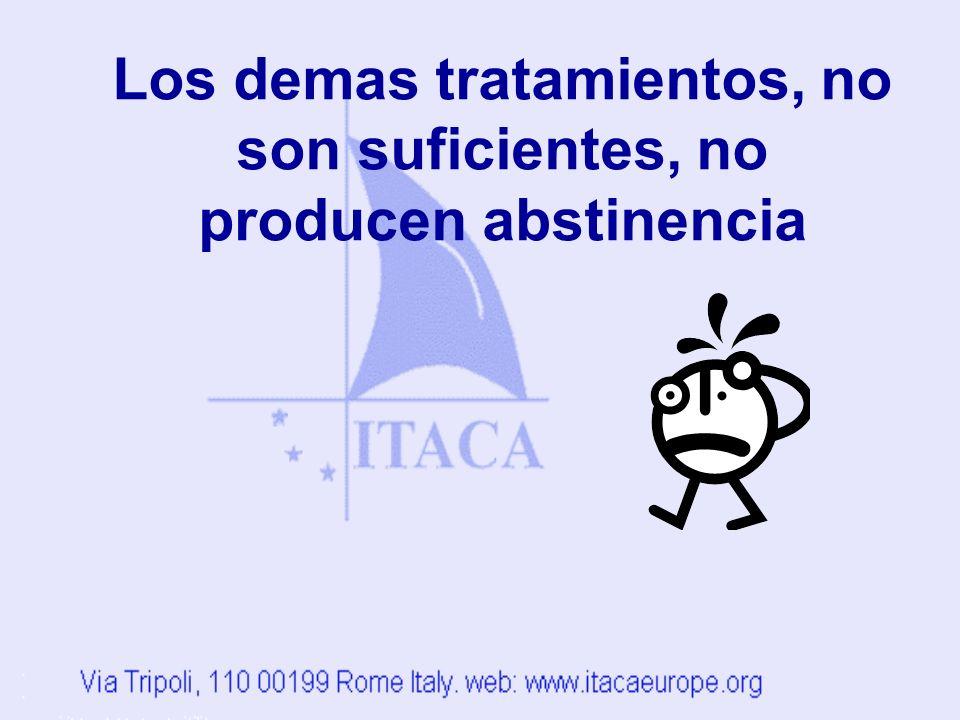 Los demas tratamientos, no son suficientes, no producen abstinencia
