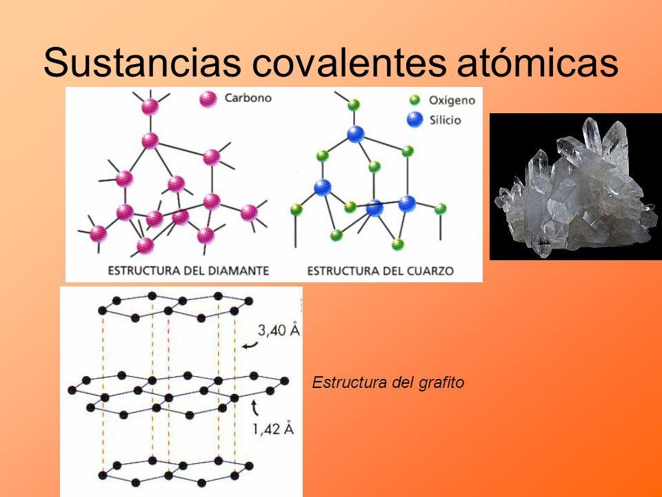 Sustancias covalentes atómicas Estructura del grafito