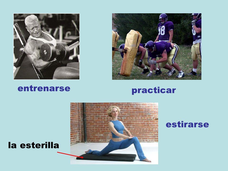 entrenarse practicar estirarse la esterilla