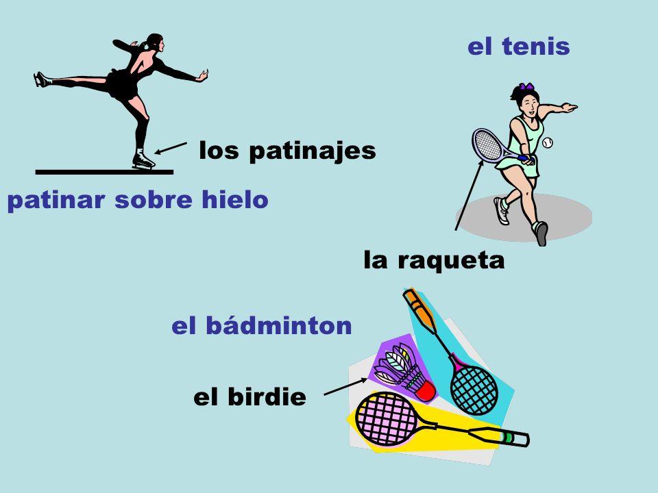 patinar sobre hielo los patinajes el tenis la raqueta el bádminton el birdie