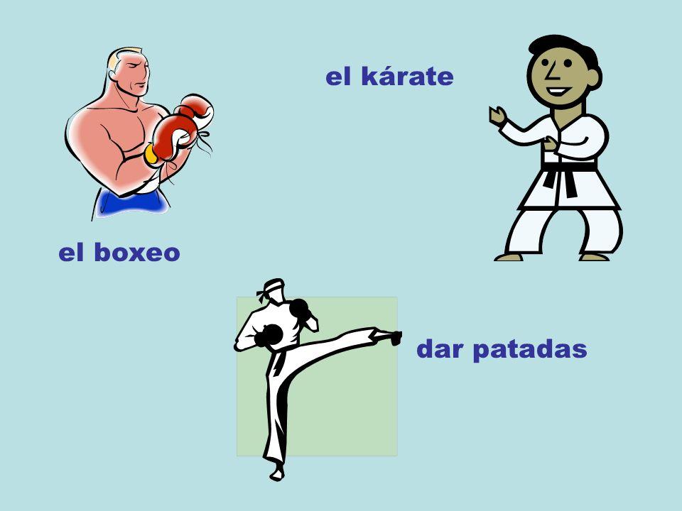 el boxeo el kárate dar patadas