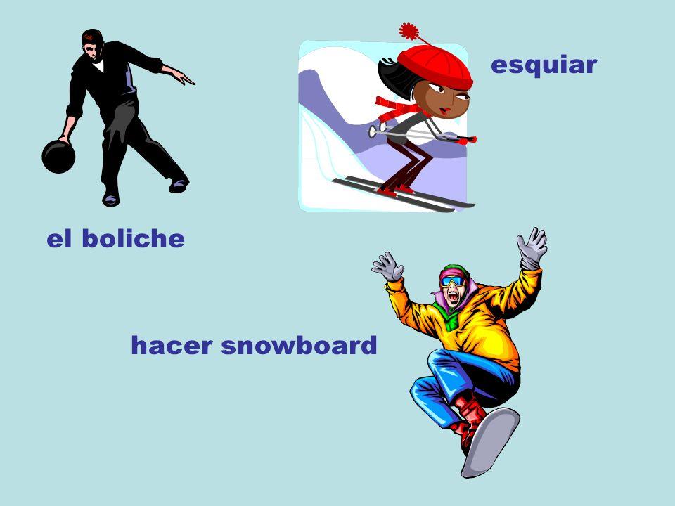 el boliche esquiar hacer snowboard