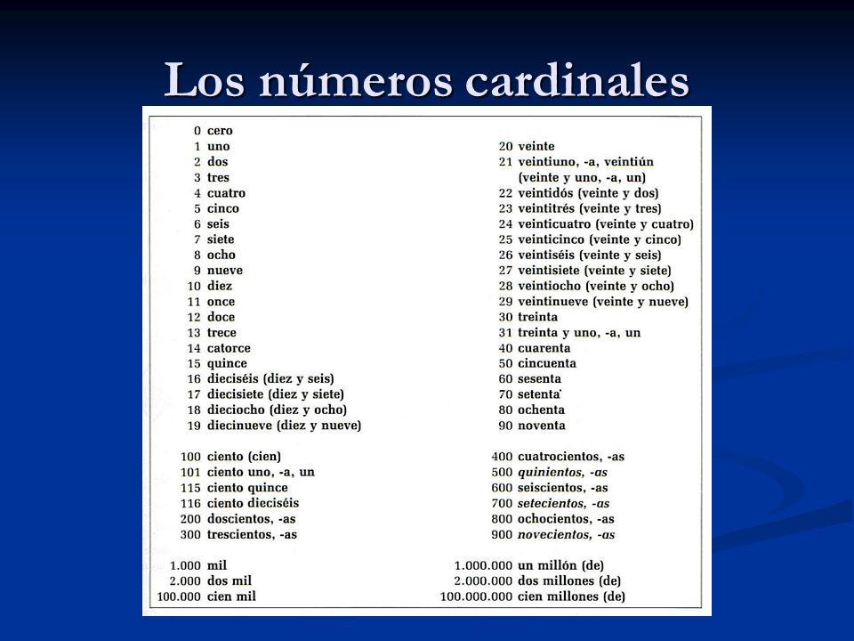 Los números cardinales