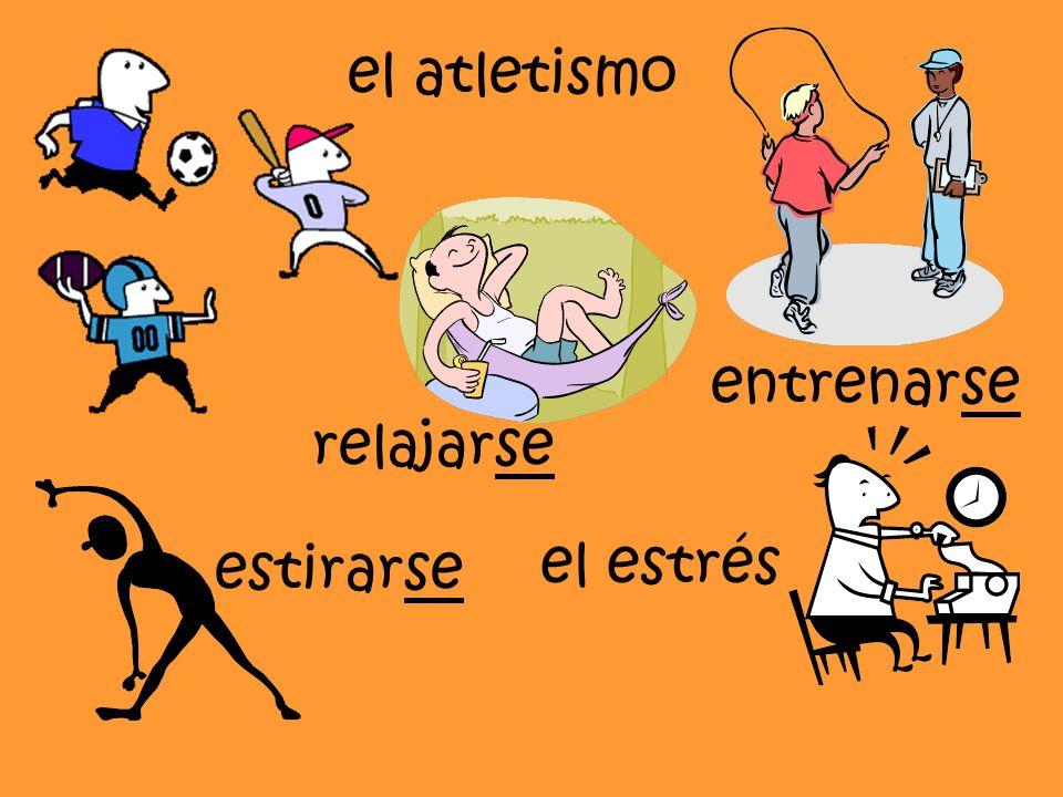 el atletismo estirarse entrenarse el estrés relajarse