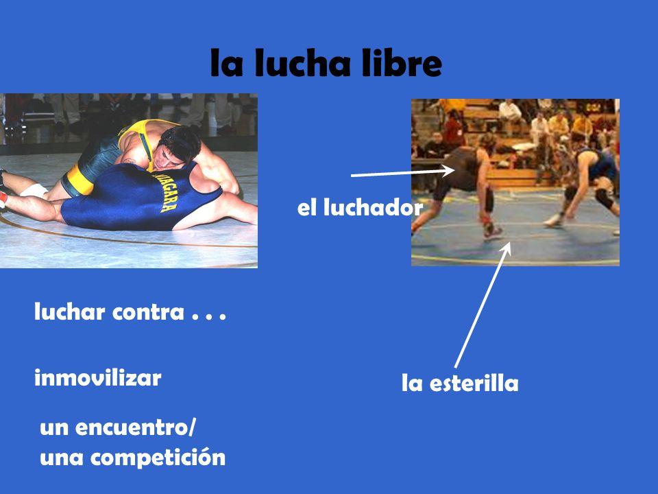 la lucha libre luchar contra... inmovilizar el luchador la esterilla un encuentro/ una competición