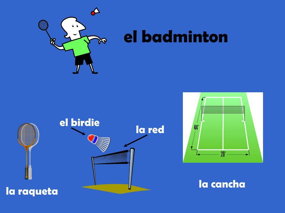 el badminton el birdie la red la raqueta la cancha