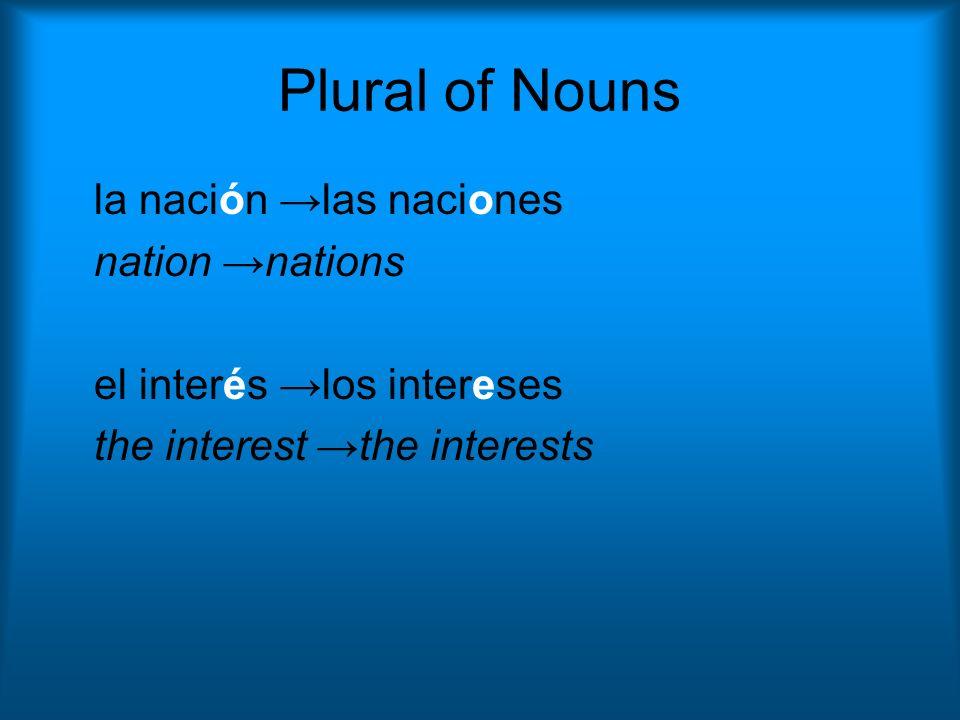 Práctica Cambien estas palabras al singular o al plural.
