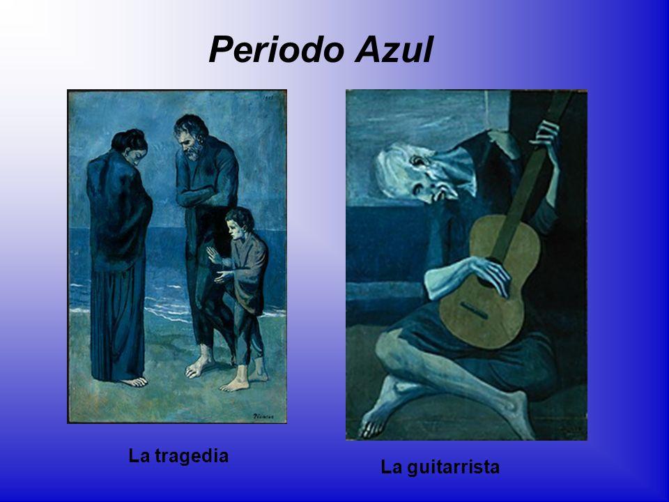 La guitarrista La tragedia Periodo Azul