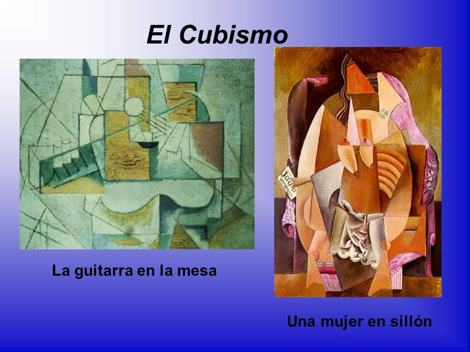 La guitarra en la mesa Una mujer en sillón El Cubismo