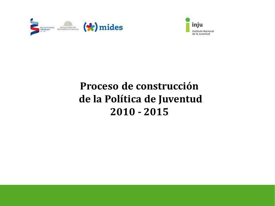 Proceso de construcción de la Política de Juventud 2010 - 2015