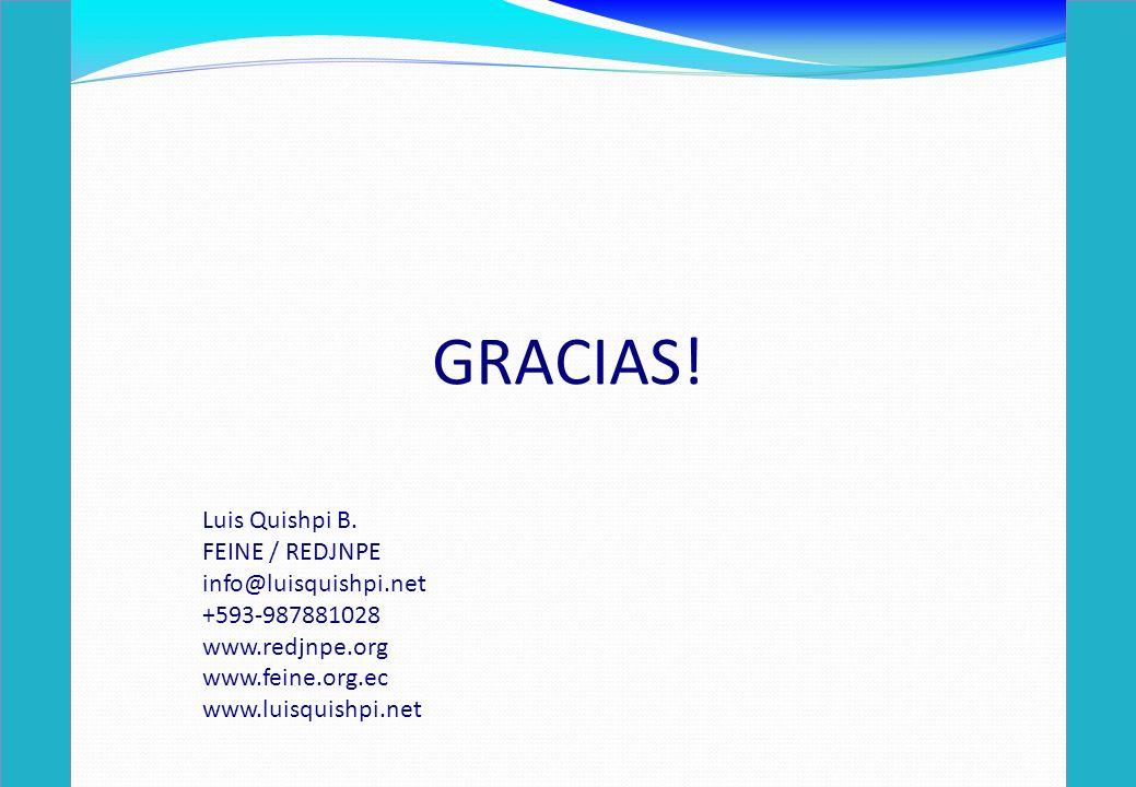 GRACIAS. Luis Quishpi B.