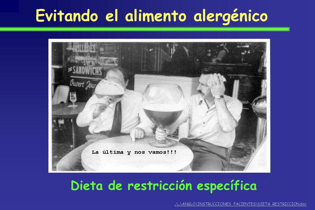 Evitando el alimento alergénico..\..\ANGLO\INSTRUCCIONES PACIENTES\DIETA RESTRICCION.doc Dieta de restricción específica
