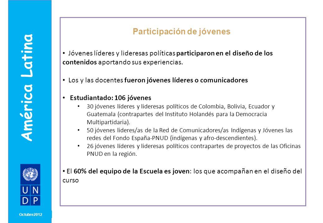 MONTH/ YEAR Capacidades que se busca fortalecer Octubre 2012 América Latina Reflexionar sobre la ética dentro del uso de la comunicación política Utilizar herramientas de comunicación e información Planificar y diseñar los elementos básicos de una estrategia de comunicación de una campaña electoral y en el ejercicio de gobierno