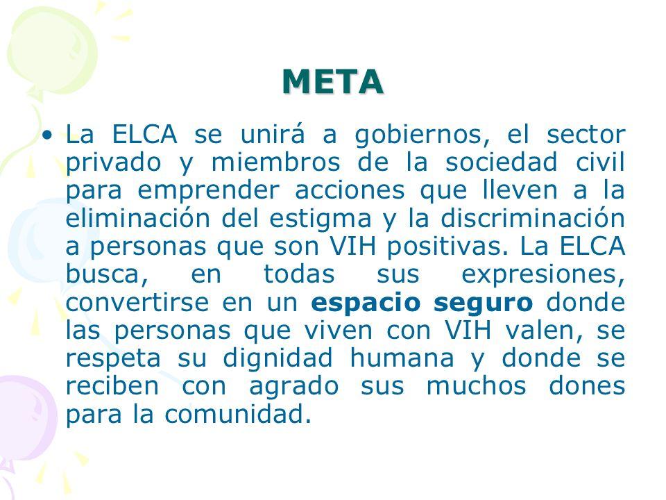 META La ELCA se unirá a gobiernos, el sector privado y miembros de la sociedad civil para emprender acciones que lleven a la eliminación del estigma y