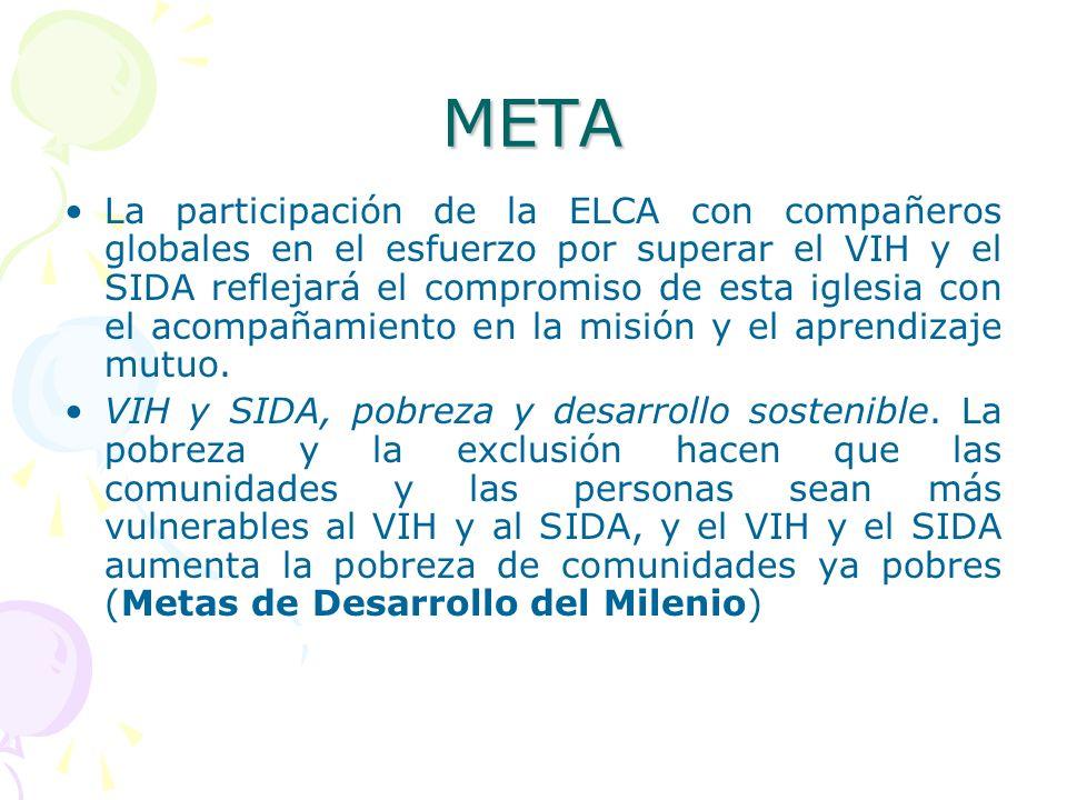 META La participación de la ELCA con compañeros globales en el esfuerzo por superar el VIH y el SIDA reflejará el compromiso de esta iglesia con el ac