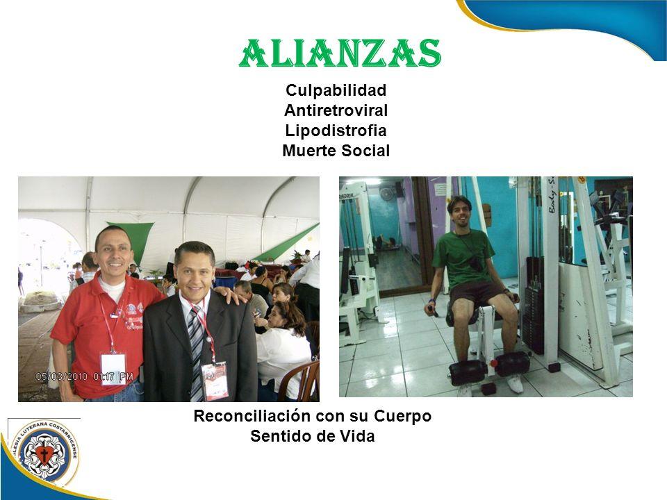 ALIANZAS Culpabilidad Antiretroviral Lipodistrofia Muerte Social Reconciliación con su Cuerpo Sentido de Vida