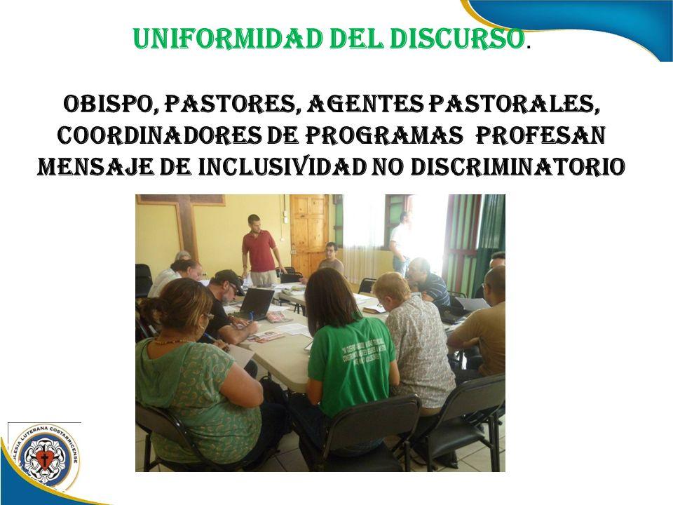 Uniformidad del Discurso.